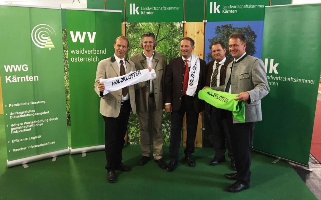 """""""Holzklopfen"""" auf der Internationalen Holzmesse Klagenfurt"""