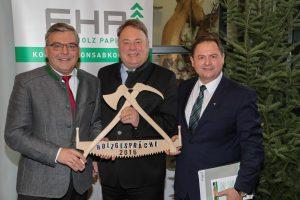 Foto (Neumayr) v. l.n.r.: Dr. Josef Schwaiger (Agrarlandesrat Salzburg); Helmut Brunner (deutscher Staatsminister für Ernährung, Landwirtschaft und Forsten) und Rudolf Rosenstatter (FHP-Vorsitzender).