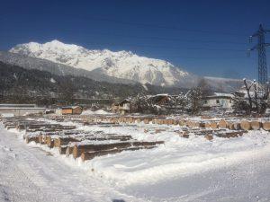 Trotz durchgängiger hoher Schneelage im Besichtigungszeitraum wurden 15 Angebote bei der heurigen Wertholzsubmission abgegeben. Bild: K. Viertler